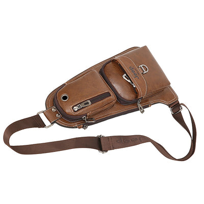 JEEP BULUO Brand Men Bags Cross body  New Hot Crossbody Shoulder Bag Famous Brand Man's Leather Sling Chest Bags Fashion Casual