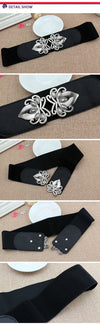 2020 New Fashion Korean Style Buckle Elastic Wide Belt Wide Cummerbund Strap Belt Waist Female Women Accessories