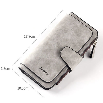 Baellerry Leather Women Wallets Coin Pocket Hasp Card Holder Money Bags Casual Long Ladies Clutch Phone Wallet Women Purse W195