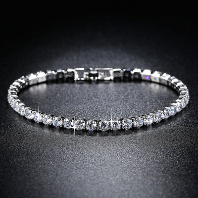 Trendy AAA Tennis Bracelet For Women Girls Luxury Micro Crystal Braslet Gold Silver Color Chain Bracelet&Bangles Jewelry Gift