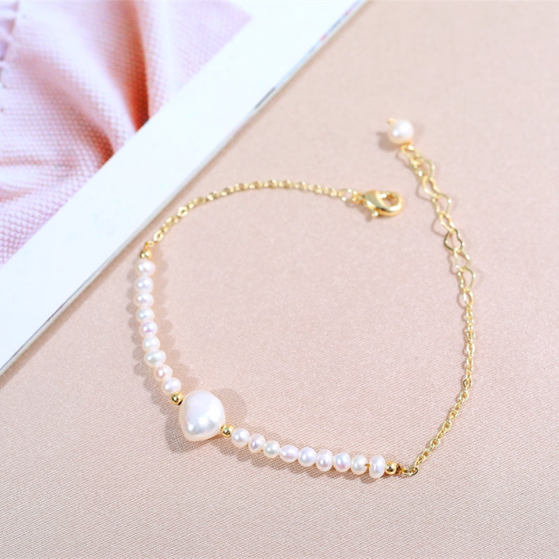 DAIMI Natural Freshwater Pearl Bracelet 4/5-7/8cm Natural Pearl Bracelets For Women Gift