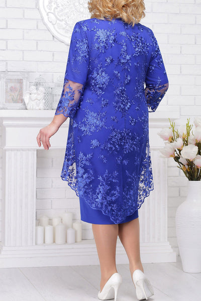 Mother Of The Bride Dresses With Jacket Plus Size Wedding Party Gown Scoop Neck Half Sleeve robe mere de la mariee 2019