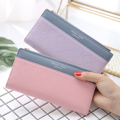 Luxury Leather Wallet Women Card Holder Zipper Phone Pocket Ladies Purse Long Money Bag Tassel Women Wallets Clutch Portfel W264