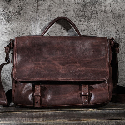 CONTACT'S Casual Men Bag Genuine Leather Briefcase Male Business Laptop Bags High Quality Messenger Bag Tote Handbags Bandolera