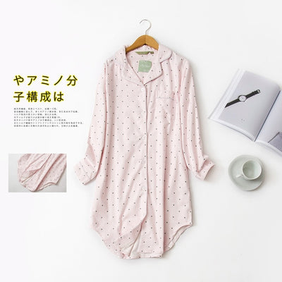 Plus size Fashion Winter night dress women nightgowns sleepwear women sleepshirts 100% brushed cotton Fresh Women nightwear