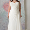 Simple White/Ivory Chiffon Wedding Gowns Hochzeitskleid Vestidos de Novia Appliqued Sheath Plus Size Bride Dress Customized