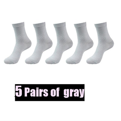 High Quality New Brand Men Bamboo Fiber Socks Plus size 43-46 Casual Business Anti-Bacterial Breatheable Man Long Sock For Gift