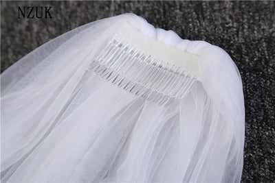 Elegant Wedding Accessories 3 Meters 1 Layer Wedding Veil White Ivory Simple Bridal Veil With Comb Wedding Veil Hot Sale