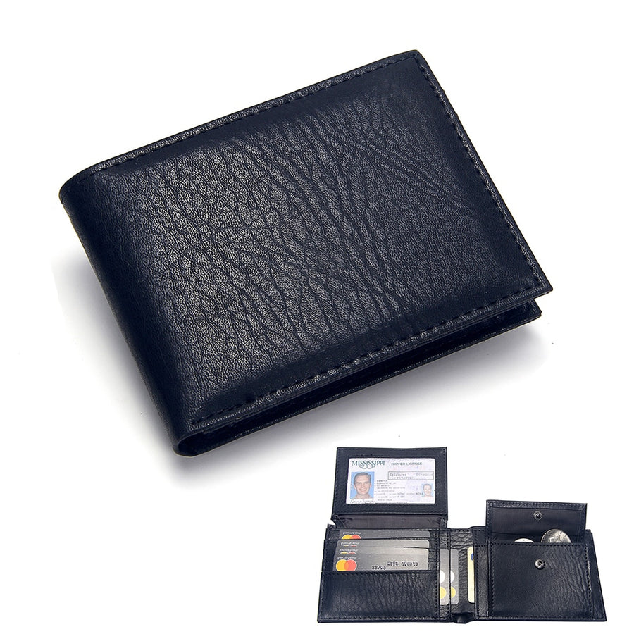 Vintage Men Leather Trifold Wallet Casual Coin Purse Credit Card Holder Clutch