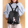 2019 NEW Women's Anti-theft backpack fashion simple solid color School bag Oxford cloth shoulder bag