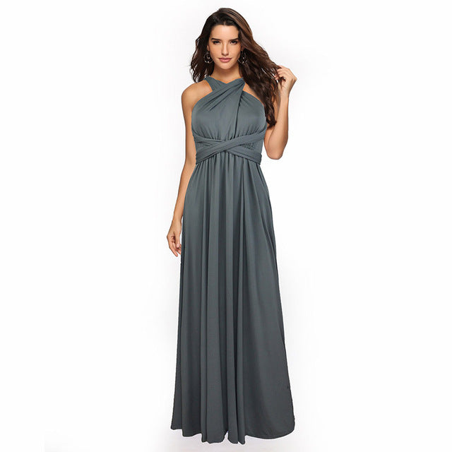 Convertible Bridesmaid Dress A-line Bridesmaid Dress Sexy Vestido de Fiesta Robe de Soiree Elegant Formal long Dress YSM-2035