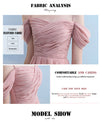 chiffon Pink silver gray Bridesmaid Dresses elegant Wedding Party Prom Dresses Vestido De Festa Party Dresses