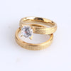 4mm lovers gold color Scrub Zircon 316l Stainless Steel Wedding rings for men women wholesale
