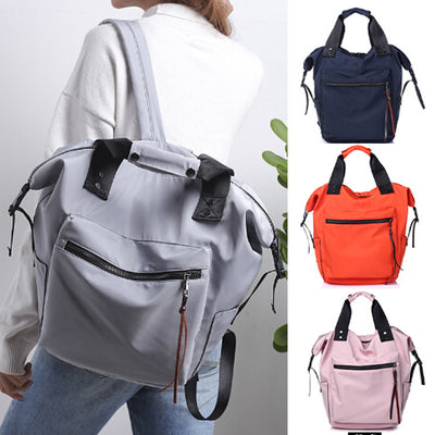 New college style anti-theft women's backpack large capacity multi-function fashion school bag portable travel shoulder bag