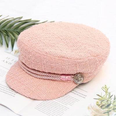 2019 Fashion Winter and Autumn Ladies Hats Women Hats Corduroy Caps Europe and America Retro Flat Top Casual Wild Octagonal Cap