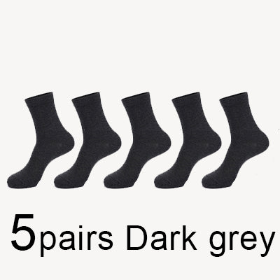 MWZHH 10 Pairs Men Cotton Socks Men Brand New Business Leisure Dress Socks Male 100 Cotton Socks Long Warm Socks Black For gifts