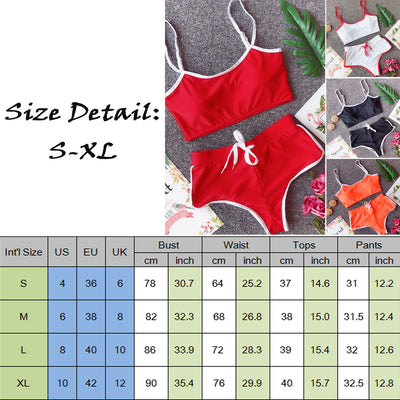 2PCS Women side Striped Gym Tracksuit Spaghetti Strap Vest Tops Elastic Short Pants Set Sport Gym Wear Suit Outfits