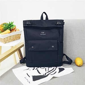 Fashion Big Capacity Women Backpack Casual Oxford Schoolbags For Teenage Girls Solid Color Black Bookbags Lady Travel Backpack