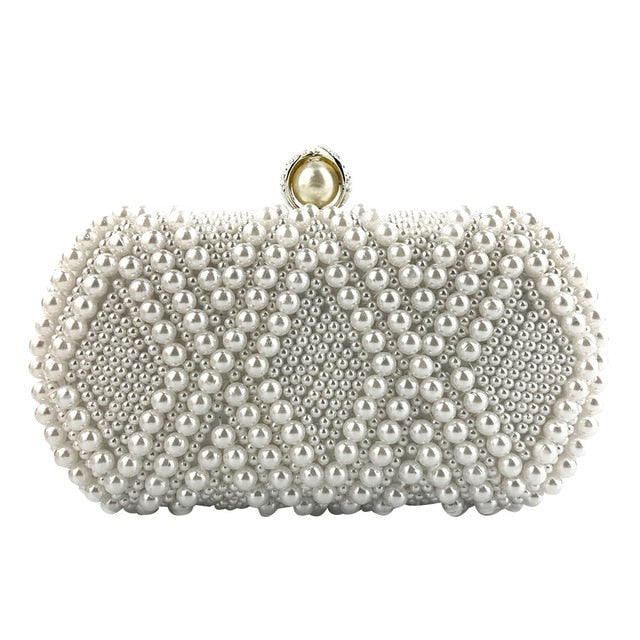 Women Crystal Beaded Evening Clutch Chain Crossbody Bags Party Handbag Wedding Bag Rhinestones Women Metal Party Clutch #38