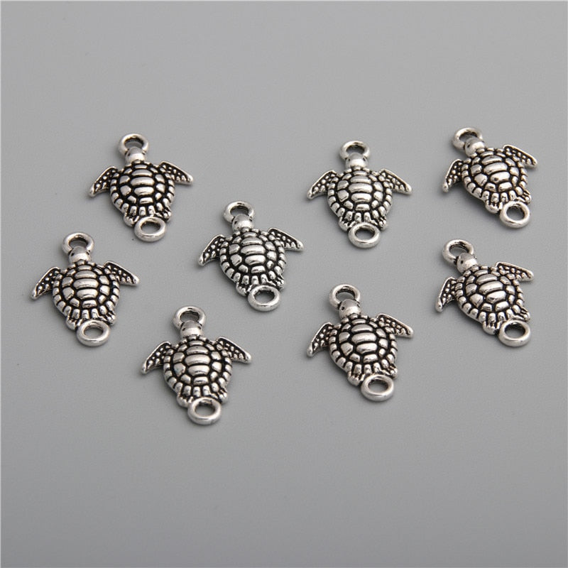40pcs Silver Color Small turtle shape connector High Quality DIY Handmade Accessories For Jewelry For Women Men A2773