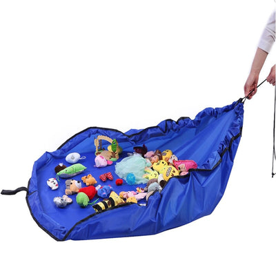 New Portable Kids Toy Storage Bag and Play Mat Lego Toys Organizer Drawstring Pouch Fashion Practical Storage Bags