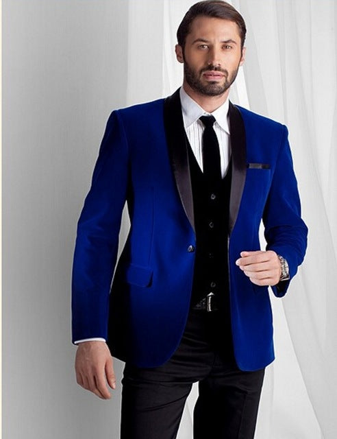 Broken Pattern 2 Pieces Men Suits  Custom Made Latest Coat Pant Designs Fashion Men Suit Wedding Grooms Suit Jacket