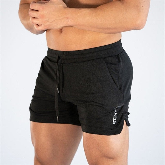Men Fitness Bodybuilding Shorts Man Summer Gyms Workout Male Breathable Mesh Quick Dry Beach Short Pants Jogger Sportswear