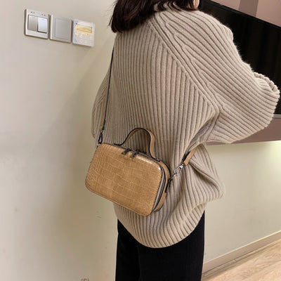 Pattern Leather Crossbody Bags For Women 2019 Fashion Small Solid Colors Shoulder Bag Female Handbags and Purses With Handle W43