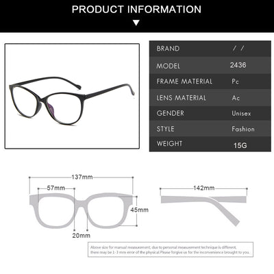 KOTTDO Vintage Cat Eye Women Glasses Frame Retro Blue light Myopia Eyeglasses Frame Fashion Plastic Transparent Men Eyewear