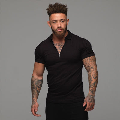Muscleguys Man Fashion Polo Shirt Casual Fashion Plain Color Short Sleeve High Quality Slim Polo Shirt Men Fitness Polo homme