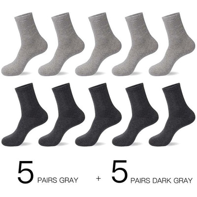 HSS 2020 Men's Cotton Socks New styles 10 Pairs / Lot Black Business Men Socks Breathable Spring Summer for Male US size(6.5-12)