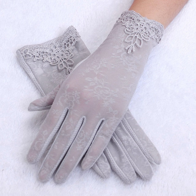 Women's Summer UV-Proof Driving Gloves Gloves Lace Gloves luvas hand gloves guantes eldiven handschoenen Hot Sales Gloves 2020