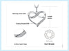 Infinity Love Heart Silver Pendant Necklace 925 Sterling Silver Choker Statement Necklace Women Silver 925 Jewelry WithoutChain