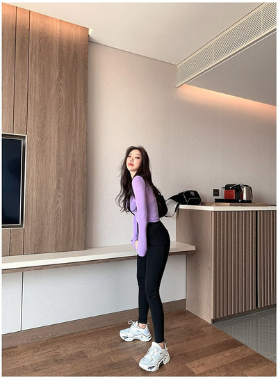 Leggings Women Wear Spring Thin Section 2020 New Small Feet Wild Small Black Pants High Waist Was Thin Black Pants
