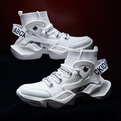 Running Shoes For Men High Top Sock Sneakers Men Chunky Dad Shoes Summer Jogging Trainers Men Breathable Sports Sapatilhas Homem