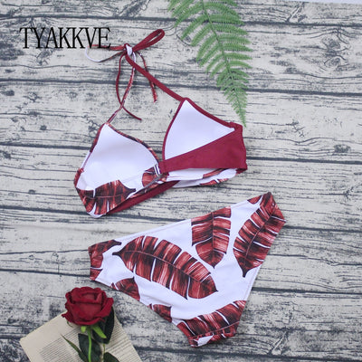 TYAKKVE Sexy 2019 Bikini Set Swimwear Women Print Swimsuit Push Up Polka Dots Bikini Plus Size BathingSuit Beachwear Biquini 3XL