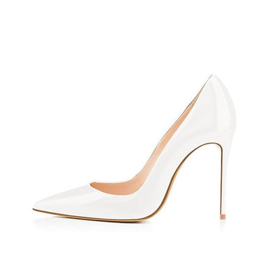 White High Heels Stiletto Pumps Bridal Wedding Shoes Simple Classic Women's Shoes High-heeled Pumps