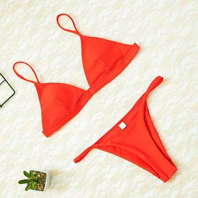 2020 Women Micro Bikini set Push Up Swimwear Solid Beach Bathing Suit Brazilian Thong Swimsuit For Girls Bikini Swim Suit Femme