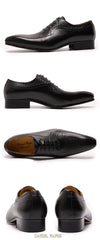 LUXURY BRAND MEN LEATHER SHOES BLACK BROWN POINTED TOE LACE UP OFFICE BUSINESS WEDDING SHOES BROGUES FORMAL MEN OXFORDS SHOE