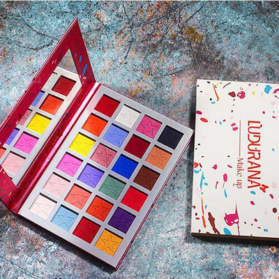 Summer Colorful Neon Eyeshadow Palette Matte Shimmer Blendable Bright Eye Shadow Pallete Silky Powder Pigment Makeup Kit