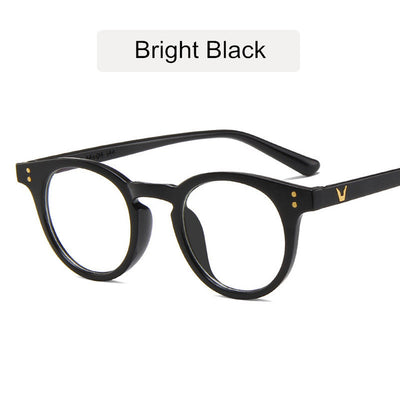 KOTTDO Vintage Fashion Plastic Round Glasses Frame Clear Classic Rivets Men Accessories Eyeglasses Spectacle Gaming Glasses
