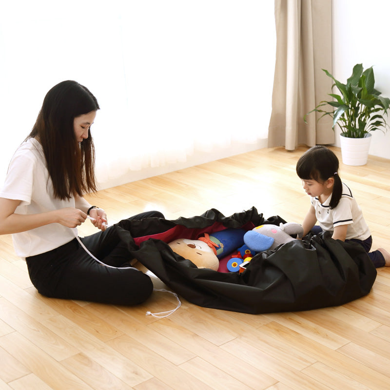 Portable Kids Toy Storage Bag and Play Mat Toys Organizer Bin Box XL Fashion Practical Storage Bags waterproof picnic mat 64142