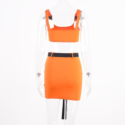 2020summer women two pieces set skirt set bandage crop top tracksuit outfits streetwear 2 pieces festival clothes