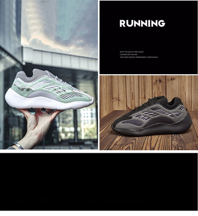 Men Breathable Running Shoes Men Retro Couple Chunky Dad Shoes Luminous Trend Sports Men Sneakers Big Size Comfort Male Trainers