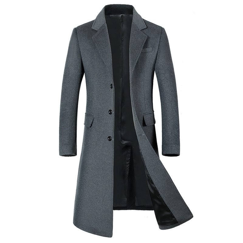A Long Jacket Below The Knee,Men's Overcoat,Men's Coat Windbreaker,Men Coats,Wool Coat Men ,Long Coat Men