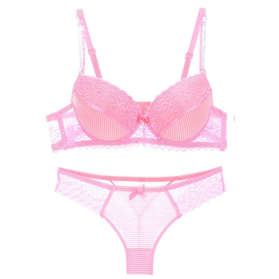 ABC sexy bra set lace push up women underwear panty set cotton refreshing bra brief sets France lingerie suit