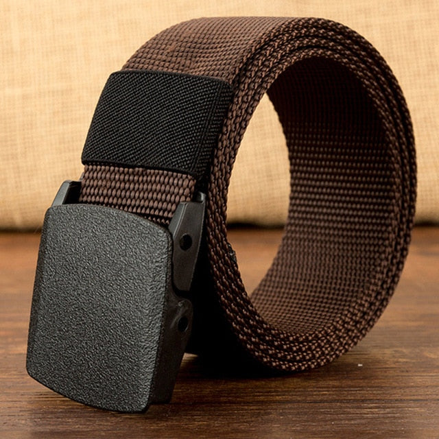 Military Men Belt 2018 Army Belts Adjustable Belt Men Outdoor Travel Tactical Waist Belt with Plastic Buckle for Pants 120cm