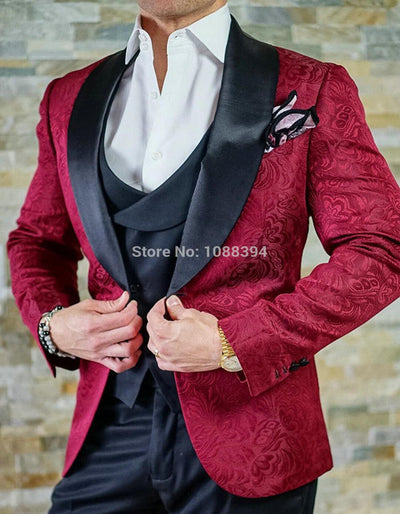 2020 Costume Homme Fashion Black White Lapel Men Dots Wedding Suit Tuxedo Groom Wedding Party Suits For Men Bridegroom Groomsmen