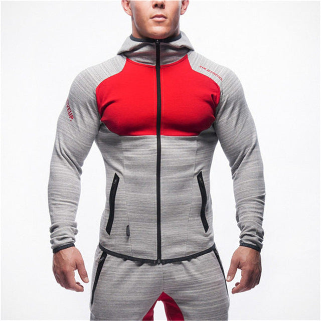 Men Bodybuilding Zipper Hoodie Casual Fashion Hooded Sweatshirt Jacket Man Gyms Fitness Workout Sportswear Jogger Brand clothing