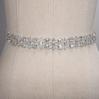 Handmade Crystal Wedding Belts Golden Silver Rhinestone Wedding Dress Belt Formal Bridal Ribbon Sash Belt Wedding Accessories